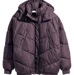H&M padded purple puffer jacket coat